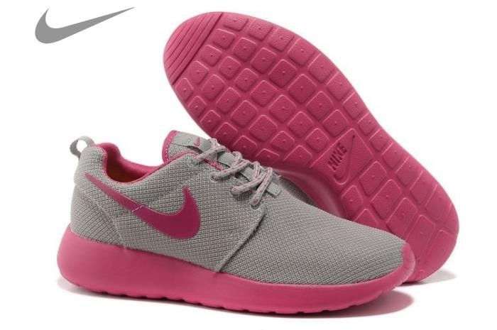 Roshe Run Pink And Grey